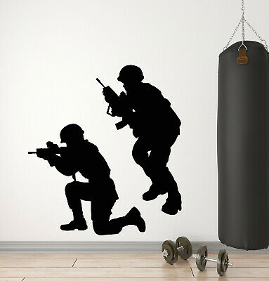 $68.99 • Buy Vinyl Wall Decal Military War Soldiers Weapons Men Army Stickers Mural (g366)