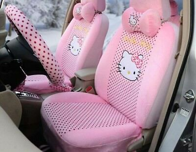 $122 • Buy  Women Love Hello Kitty Universal Car Seat Covers Cushion Accessory Plush Pink