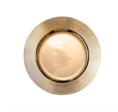 AU7.19 • Buy Lightweight Charger Plate Ripple (33cmD) In Chrome Gold