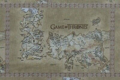£7.50 • Buy Game Of Thrones Fabric - Map Of Westeros. 100% Cotton, Fully Licensed