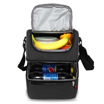 AU51.29 • Buy Insulated Lunch Bag Box For Women Men Thermos Cooler Hot Cold Adult Tote Food AU