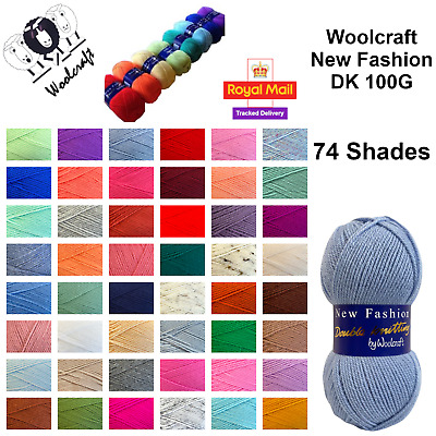 Woolcraft New Fashion DK Wool / Yarn 100g Knitting & Crochet BUY 10+ SAVE 5% • 1.39£