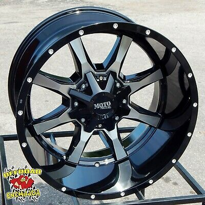 $956 • Buy 20x12  BLACK MOTO METAL MO970 WHEELS RIMS FORD F-250 F-350 SUPER DUTY 8x170 XLT