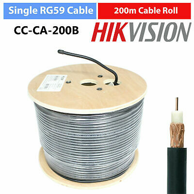 £41.98 • Buy Hikvision 200m SINGLE RG59 Coaxial CCTV Security Camera CABLE Lead WIRE ROLL UK