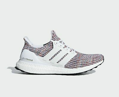 4c40d86973e Adidas Ultra Boost 4.0 White Multi-color Mens Running Shoes CM8111 MULTIPLE  SIZE •