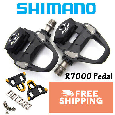 a366aa5ff14 Shimano 105 SPD SL PD R7000 Pedals With SH11 Cleat Road Bike Black • 100.99$