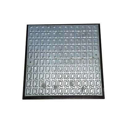 Pedestrian Manhole Cover - Galvanised Steel And PVC Frame 610x610mm • 36.99£