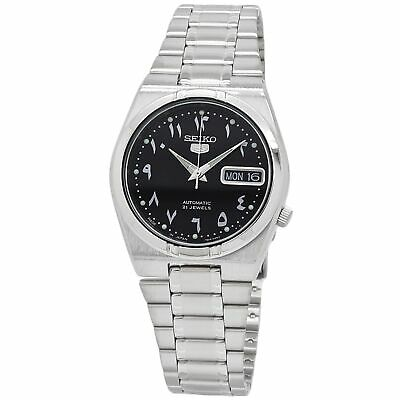 $ CDN151.29 • Buy Seiko 5 Automatic Black Dial Stainless Steel Watch SNK063J5
