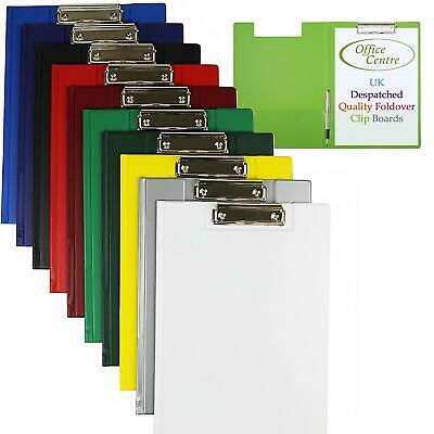 OfficeCentre® A4 Quality Folding Clip Board Waterproof Paper Storage Pen Holder • 4.50£
