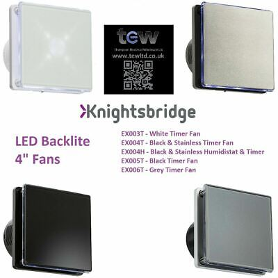 £36.65 • Buy Knightsbridge - 100MM/4  LED Backlit Extractor Fan With Over Run Timer