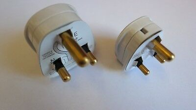 Round Pin Plug Top 5Amp Or 15Amp White BS546 • 4.99£