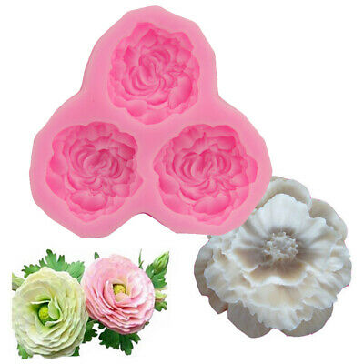 3D Peony Flower Silicone Mould Cake Sugarcraft Fondant Decoration Chocolate Mold • 3.59£