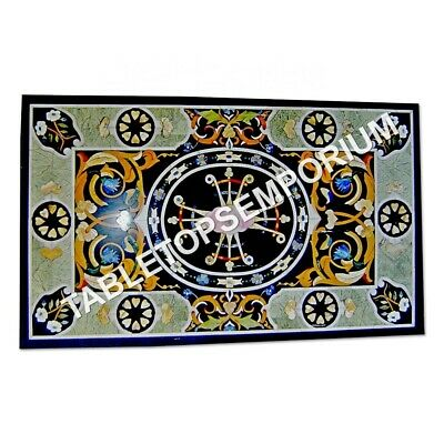 6'x3' Italian Marble Dining Living Room Table Top Marquetry Inlaid Decor E964B • 4,978.80£