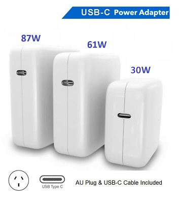 AU38 • Buy 30W 61W 87W USB-C Power Adapter Charger Type-C For Apple Macbook Air Pro Laptop