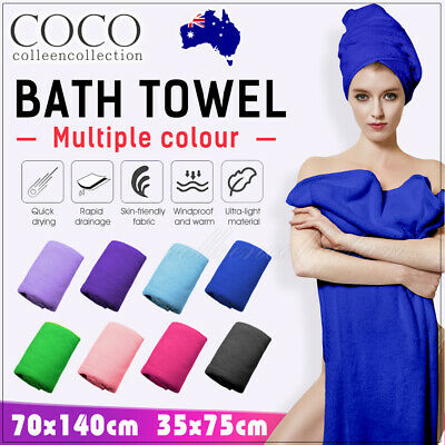 AU7.99 • Buy Towel Fast Drying Gym Sport Bath Travel Camping Swimming Hair Dry-au Stock