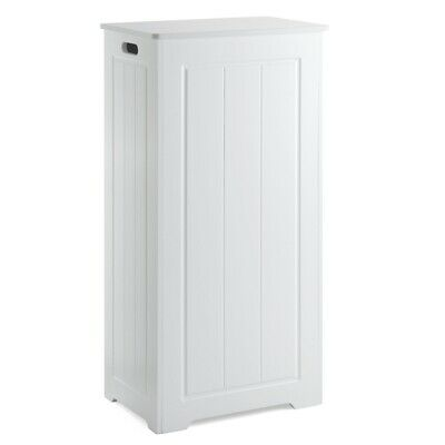 £39.99 • Buy White Laundry Box Wooden Bathroom Storage Basket Linen Clothes Cabinet Christow