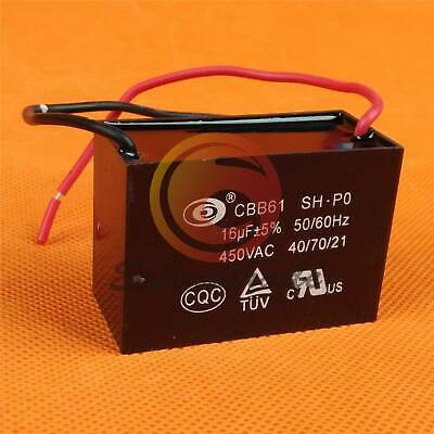 Twin Cable 80uF Motor Run Capacitor 450V