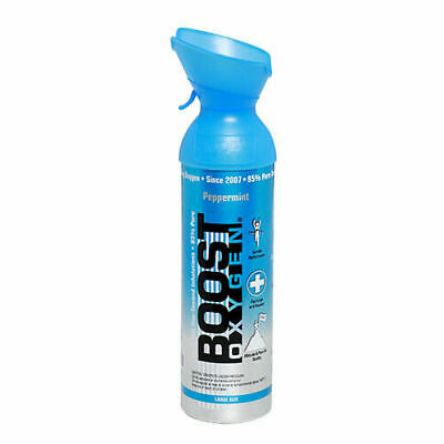 Boost Oxygen 9l Oxygen Therapy Oxygen In A Can Peppermint Flavour Copd Asthma • 21£