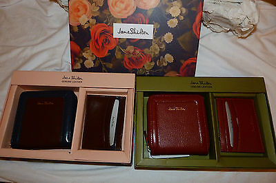 BNIB Jane Shilton Leather Coin Purse & Card Holder Set. Brown Or Red. • 24.99£