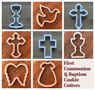 First Communion Baptism Cookie Cutter Biscuit Pastry Fondant Chalice Crucifix  • 3.69£