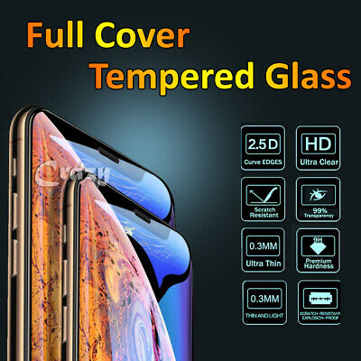 AU4.99 • Buy For IPhone X XS Max XR 7 8 Plus 12 11 Pro Full Tempered Glass Screen Protector