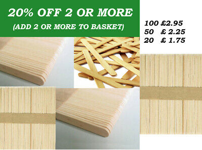 Natural Wooden Lolly Sticks Grade A ~ 114x10mm Ice Pops Lollipops Lollies Craft • 1.79£