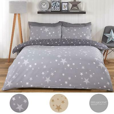 View Details Dreamscene Galaxy Stars Duvet Cover With Pillowcase Kids Bedding Set Silver Grey • 9.50£