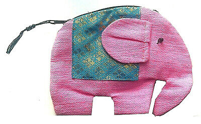 £4.50 • Buy Pink Girls Elephant Shaped Soft Cotton Coin Purse With Neck Strap