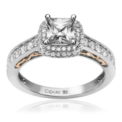 Clogau Compose 18ct White Rose Gold Cecilia Engagement Ring £6115 Off! 1ct • 6,115£