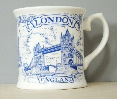 Bone China Mug Blue London Souvenir Tankard Vintage Hand Decorated In Wales Gift • 6.99£