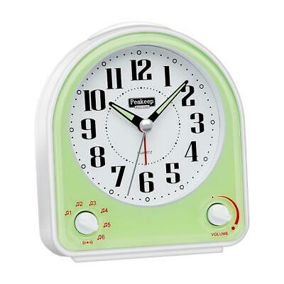 AU61.55 • Buy Peakeep Non-Ticking Silent Alarm Clock, Optional 7 Wake-up Sounds With Volume Co