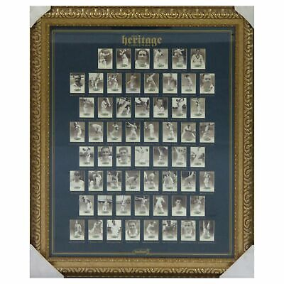 AU1200 • Buy The Heritage Collection Signed Cricket Cards Framed/60 Signatures