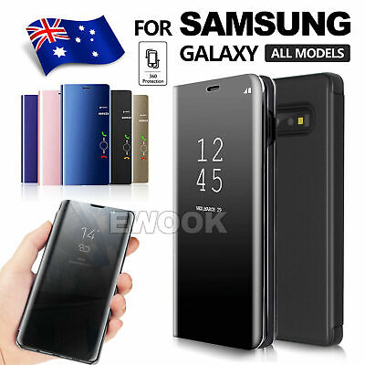 AU7.75 • Buy Samsung Galaxy S8 S9 S10 Plus Note 8 9 Smart Mirror View Flip Case Stand Cover