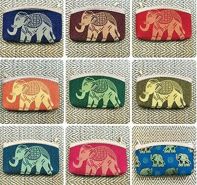 £3.99 • Buy Cute Cotton Coin Purse With Gold Elephant Design