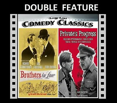 Private's Progress / Brothers In Law ( Ian Carmichael ) R2 Compatible DVD Sealed • 12.99£