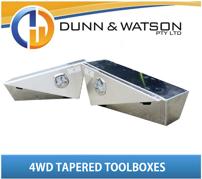 AU1300 • Buy Pair Of Aus Made 4wd Double Tapered Toolboxes (Under Body, Ute Tray, Aluminium)