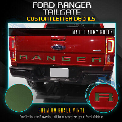 1964-1972 Ford F100 F250 Tailgate Letter Decal Set WHITE TR103-WH