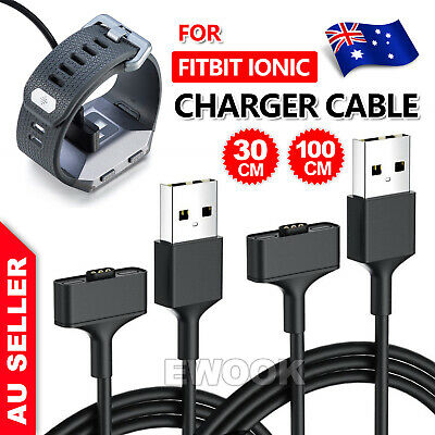AU6.95 • Buy Replacement USB Charging Cable Cord For Fitbit IONIC Smart Watch - Ionic Charger