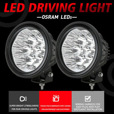 AU118.98 • Buy NEW DESIGN OSRAM Slimline 7INCH LED Driving Lights REPLACE HID Spot Work Offroad