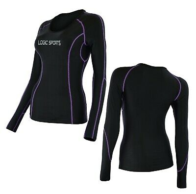 Logic Womens Base Layer Compression Running Sports Full Sleeve + Yoga/Gym Top  • 10.99£