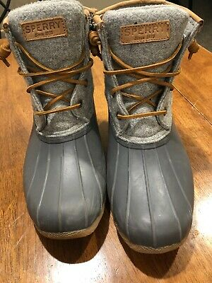bbbf8587763 Sperry Top Sider STS82475 Saltwater Women s Duck Boots SZ 7 • 39.99