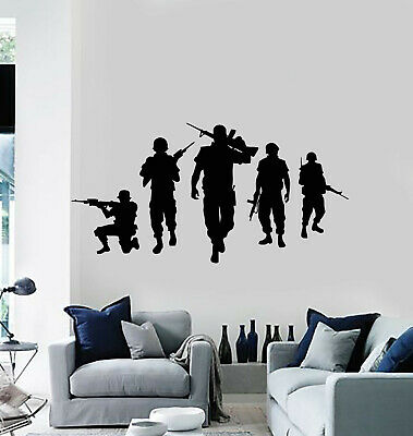 $49.99 • Buy Vinyl Wall Decal Military Wartime Silhouette American Soldiers Stickers (g513)
