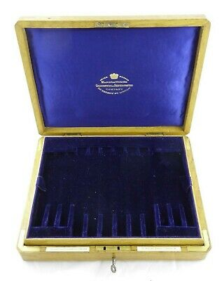 Quality Antique Oak Fitted Cutlery Box For Fruit Cutlery Goldsmiths Silversmiths • 95£
