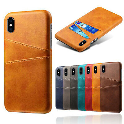 AU7.87 • Buy Luxury Slim Wallet PU Leather With Card Slot Holder Back Cover Case For IPhone