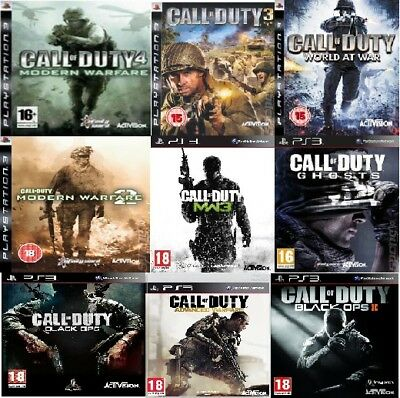 Call Of Duty PS3 Assorted Games PS3 Mint Condition - PICK ONE OR BUNDLE THEM • 5.99£