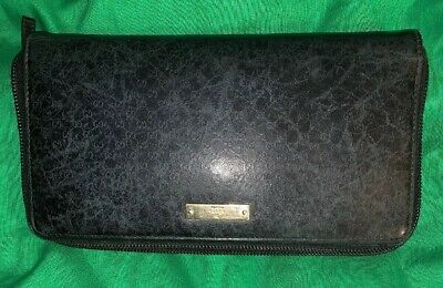 eae2c4c8fc7 GUCCI Women s Authentic NAVY BLUE Pebbled Leather Zip Around Wallet Card  Holder • 69.95