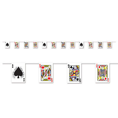 $7.95 • Buy Casino Vegas Alice In Wonderland Party Decoration Playing Card Pennant Banner