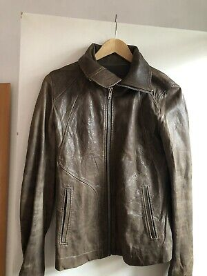 Rick Owens - Intarsia Distressed Leather Jacket  Dusk Colour • 400£