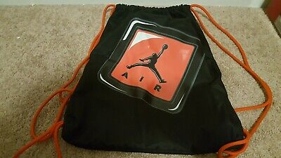 c4e95152300ef1 Nike Air Jordan Gymsack Drawstring Bag Backpack Black   Red • 13.00