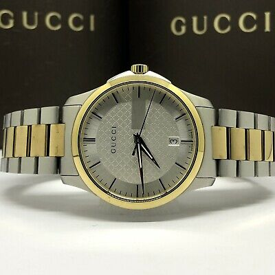 9ee3f0b133c Gucci G-Timeless  1025 Men s Silver Dial Two-Tone Gold PVD SS YA126450 Swiss
